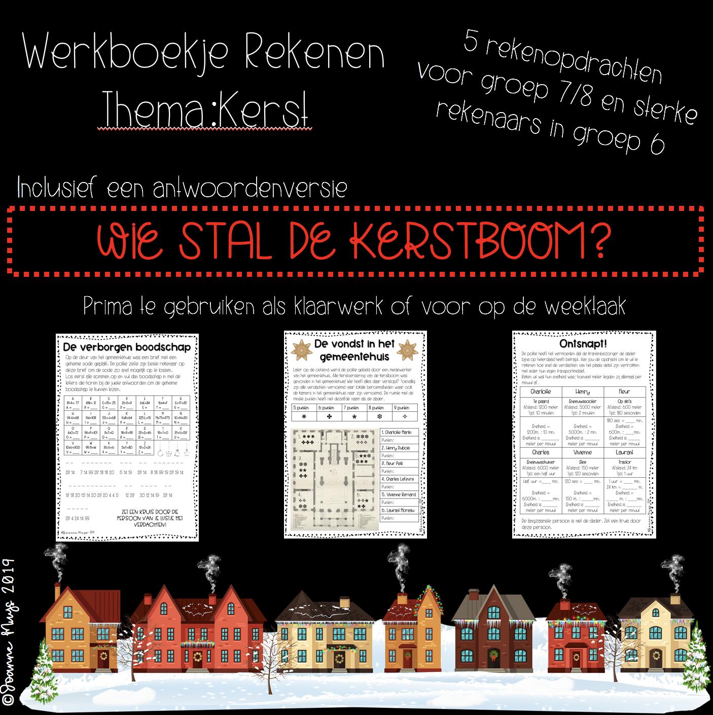 Werkboekje rekenen: thema Kerst voor de bovenbouw