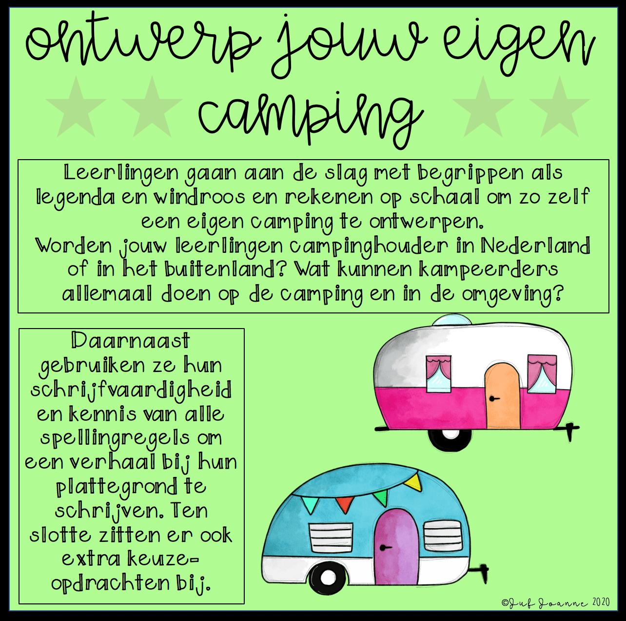 Ontwerp jouw eigen camping (groep 6/7/8)