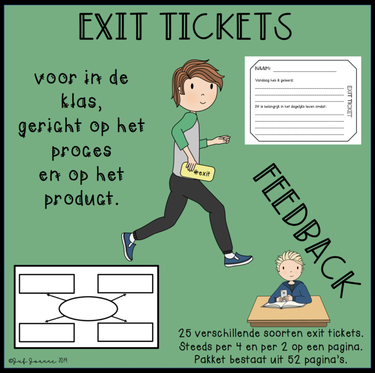 Exit tickets voor in de klas