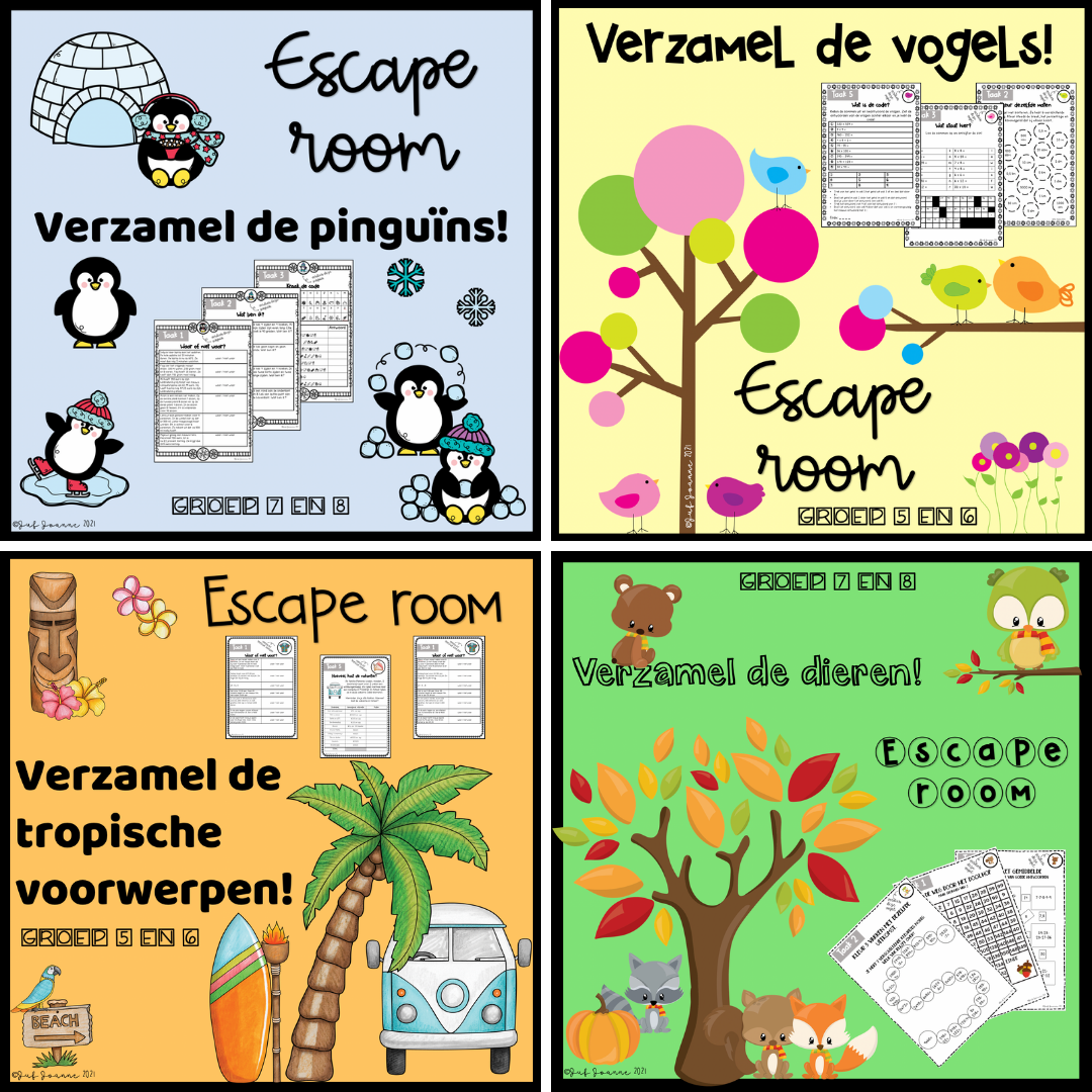 Escape room : seizoenen groep 5/6 en groep 7/8